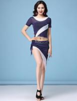 economico -Danza del ventre Completi Per donna Addestramento Nylon Più materiali Manica corta Cadente Gonne / Top