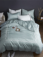 cheap -Duvet Cover Sets Bohemian / Contemporary 100% Cotton / 100% Egyptian Cotton Embroidery 4 Piece