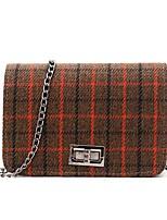 cheap -Women's Bags Straw Shoulder Bag Buttons Gray / Brown / Khaki