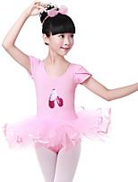 abordables -Danse classique Robes Fille Entraînement / Utilisation Coton Dentelle / Motif / Impression / Paillette Manches Courtes Taille moyenne Robe