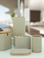 abordables -Set d'Accessoires de Salle de Bain Design nouveau / Multifonction Moderne Résine 5pcs - Salle de Bain Simple