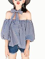 economico -T-shirt Per donna Per uscire A strisce A barca