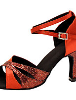 cheap -Women's Latin Shoes PU(Polyurethane) Heel Slim High Heel Dance Shoes Red / Performance / Leather / Practice