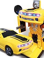 abordables -Petites Voiture Automatique / Robot Transformable / Créatif / Musique et Lumière Carcasse de plastique Enfant Cadeau 1 pcs