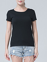 cheap -Women's Slim T-shirt - Solid Colored