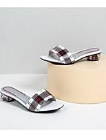 cheap -Women's Shoes Sheepskin Summer Comfort Slippers & Flip-Flops Low Heel Red / Blue