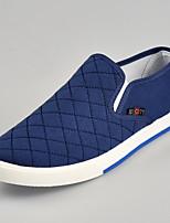 abordables -Homme Chaussures Lin Eté Confort Mocassins et Chaussons+D6148 Noir / Gris / Bleu