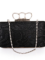 cheap -Women's Bags Polyester Evening Bag Crystals / Lace White / Black / Red