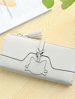 cheap -Women's Bags PU(Polyurethane) Wallet Zipper Blushing Pink / Gray / Sky Blue
