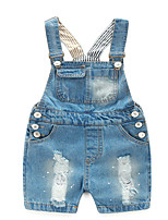 cheap -Kids Girls' Solid Colored Overall & Jumpsuit