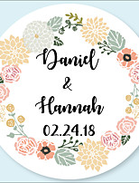 cheap -Wedding Stickers, Labels & Tags - 48 pcs Circular Stickers / Envelope Sticker All Seasons