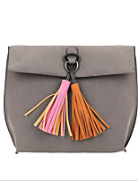 cheap -Women's Bags PU(Polyurethane) Shoulder Bag Tassel Black / Gray / Brown