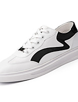 cheap -Men's PU(Polyurethane) Fall Comfort Sneakers Color Block White / Black / White