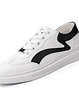 Недорогие -Муж. Полиуретан Осень Удобная обувь Кеды Контрастных цветов Белый / Черно-белый