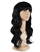 Недорогие -Парики из искусственных волос Кудрявый Стрижка каскад Искусственные волосы Для вечеринок Черный Парик Жен. Длинные Без шапочки-основы
