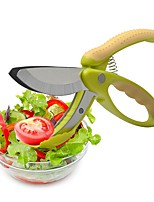 abordables -Outils de cuisine Acier Inoxydable Ustensiles pour fruits & légumes Accueil Outil de cuisine Ciseaux / Outils de salade Pour Fruit / Pour légumes / salade 1pc