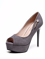 cheap -Women's Shoes Suede Summer / Fall Basic Pump Heels Stiletto Heel Black / Gray / Party & Evening / Party & Evening