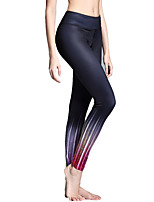 cheap -Women's Tummy Control Yoga Pants - Peacock Blue, Turquoise, Violet Sports Tights Running, Gym, Exercise Activewear Lightweight, Moisture Wicking, Wearable Micro-elastic / Breathable