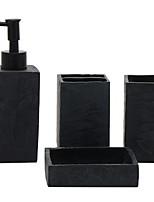 abordables -Set d'Accessoires de Salle de Bain Design nouveau Moderne 4pcs - Salle de  Bain Simple