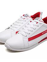 economico -Per uomo PU (Poliuretano) Primavera & Autunno Comoda Sneakers Bianco / Rosa e bianco / Bianco / nero