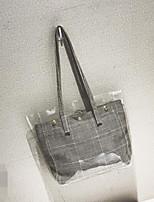 cheap -Women's Bags PVC(PolyVinyl Chloride) / Straw Bag Set 2 Pieces Purse Set Buttons Black / Red / Khaki