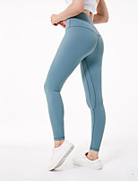 cheap -Women's Yoga Pants - Fuchsia, Ink Blue, Light Green Sports Spandex High Rise Tights / Leggings Pilates, Exercise & Fitness, Running Activewear Lightweight, Quick Dry, Breathable High Elasticity