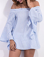 cheap -women's shirt - striped boat neck