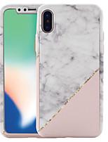 billiga -fodral Till Apple iPhone X / iPhone 8 Mönster Fodral Marmor Hårt PC för iPhone X / iPhone 8 Plus / iPhone 8
