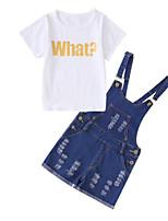 cheap -Kids Girls' Geometric Short Sleeve Clothing Set