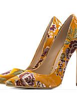 Недорогие -Жен. Обувь Шёлк Весна / Осень Удобная обувь / Туфли лодочки Обувь на каблуках На шпильке Черный / Желтый / Зеленый