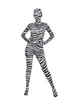 abordables -Disfraces Zentai de Texturas / Disfrace de Cosplay Zentai Disfraces de Cosplay Negro Cebra Licra Spándex / Elástica Unisex Halloween / Carnaval / Mascarada