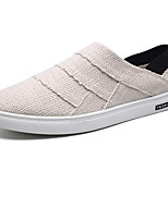 cheap -Men's Shoes Canvas Summer Comfort Loafers & Slip-Ons White / Black / Beige