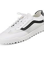 Недорогие -Муж. Полиуретан Лето Удобная обувь Кеды Контрастных цветов Красный / Черно-белый