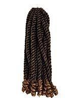 economico -Capelli intrecciati Riccio Ricci intrecciati / Trecce Crochet pre-ciclo Capelli sintetici 1, 20 radici / confezione capelli Trecce Multicolore 35cm Resistente al calore / Treccia colorata schiarita