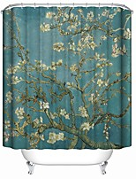 cheap -Shower Curtains Contemporary Polyester Novelty Waterproof Bathroom