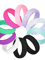cheap -Rings / Silicone Rings With 10 pcs Silicone Soft For Exercise & Fitness / Gym Unisex