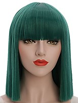 cheap -Synthetic Wig Straight Bob Haircut / Pixie Cut Synthetic Hair Party / Classic Green Wig Women's Short Capless / Yes