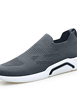 Недорогие -Муж. Полиуретан / Эластичная ткань Лето Удобная обувь Кеды Черный / Серый