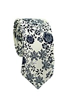 cheap -Men's Party / Basic Cotton / Polyester Necktie - Floral / Color Block / All Seasons