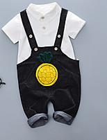 cheap -Kids Boys' Pineapple Patchwork Short Sleeve Clothing Set