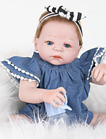 cheap -FeelWind Reborn Doll Baby Girl 22 inch Full Body Silicone - lifelike, Artificial Implantation Blue Eyes Kid's Girls' Gift
