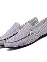 abordables -Homme Chaussures Toile Automne Moccasin Mocassins et Chaussons+D6148 Gris / Bleu