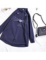 abordables -Mujer Básico Retazos Camisa Un Color
