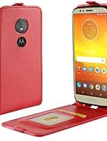 abordables -Coque Pour Motorola MOTO G6 / Moto G6 Play Porte Carte / Clapet Coque Intégrale Couleur Pleine Dur faux cuir pour Moto X4 / MOTO G6 / Moto G6 Play