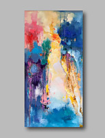 cheap -Oil Painting Hand Painted - Abstract / Landscape Comtemporary Canvas