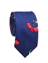 cheap -Men's Party / Basic Cotton / Polyester Necktie - Color Block / Fruit Cherry / All Seasons