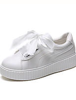 cheap -Women's Shoes PU(Polyurethane) Spring & Summer Comfort Sneakers Creepers Round Toe White
