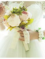 abordables -Fleurs de mariage Bouquets / Pétales Mariage / Fête de Mariage Satin / Tissus / Bourgeon floral 11-20 cm