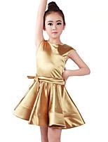 abordables -Danse classique Robes Fille Entraînement / Utilisation Orlon Noeud en satin / Ruché Sans Manches Taille moyenne Robe