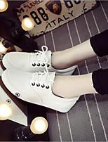 Недорогие -Жен. Обувь Полотно Весна Удобная обувь Кеды На плоской подошве Круглый носок Синий / Черно-белый / Светло-синий